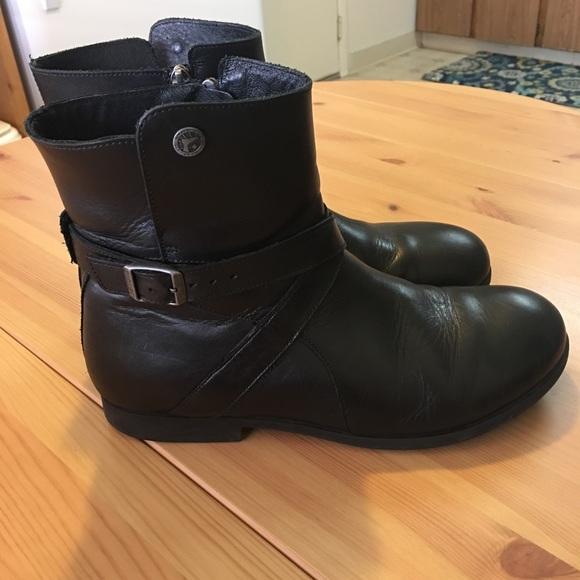 64642c8e6fb Birkenstock Shoes -  Birkenstock  Collins Black Boots Women s Size 41
